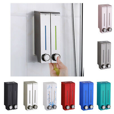 Soap Dispenser Wall Mount Double-Head Liquid Shampoo Shower Gel Dispenser