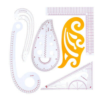 6Pc Useful Multi-style Sew French Curve Ruler Measure For Sewing Dressmaking