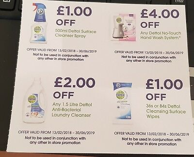 £8 off Dettol Cleansing Products Coupons