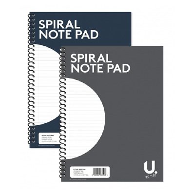 A4 SPIRAL NOTEPAD Colour Assorted Ruled 80 Pages Wired Office Jotter Pad