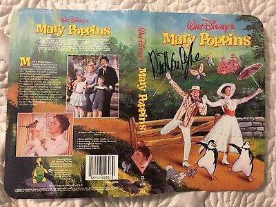 Dick Van Dyke Hand Signed Original Autograph On Mary Poppins Vhs Cover