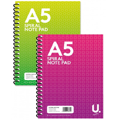 A5 SPIRAL NOTEPAD PENNINE STATIONARY Ruled 160 Paper Wired Office Jotter Pad