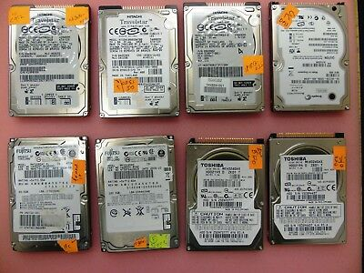 "Lot of 8 -  Misc. 20GB to 120GB Laptop  2.5"" 4200 5400 RPM IDE PATA Hard Drive"