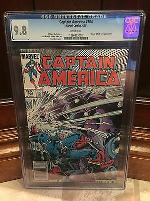 Captain America #304 Cgc 9.8 Nm/mt Nomad & Nick Fury App ~ White Pages