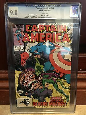 Captain America #313 Cgc 9.8 Nm/mt ~ John Byrne Modok Cover ~ White Pages