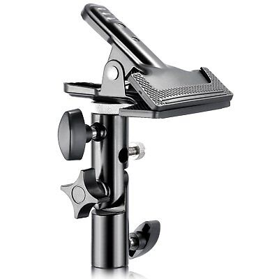 Neewer® Photo Studio Heavy Duty Metal Clamp Holder with 5/8` Light Stand ...