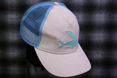 2a82a5960dd7f Patagonia Geodesic Flying Fish Trucker Hat Excellent - Beige Baby Blue RARE  LTD.