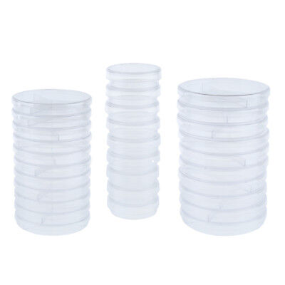 10Pc Lab Clear Plastic Petri Dish Sterile Cell Tissue Culture Dish with Lid
