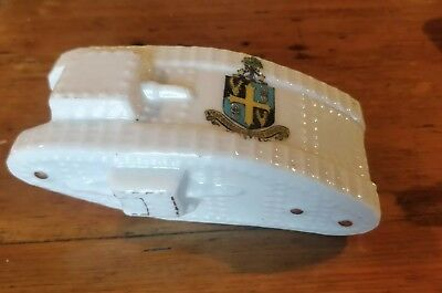 Swan China Crested  WW1 Tank – Mansfield Crest. Perfect