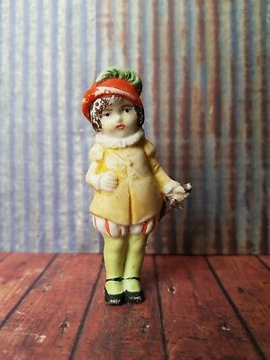 Victorian Bisque Doll Vintage Antique Dolls House Cake Topper Snow Baby