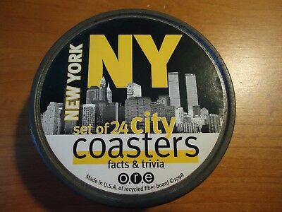 NYC 1998 Facts and Trivia Coasters