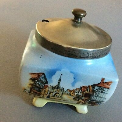 Lancaster and Sandland Ware Vintage Jam pot with metal spoon lovely piece