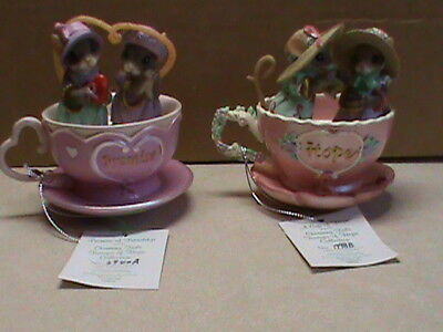 charming tails figurines,2 in the lot,Tea cups of hope,Promise and Hope,Cute