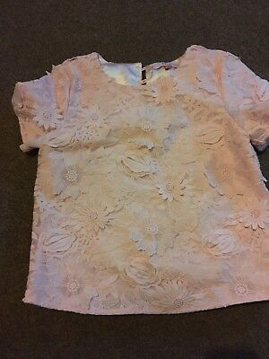 Girls Beautiful Ted Baker Peach Blouse Age 12 Years
