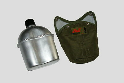 Minelab Metal Detector Aluminum Water Bottle Flask Canteen 1 Qt. with cover