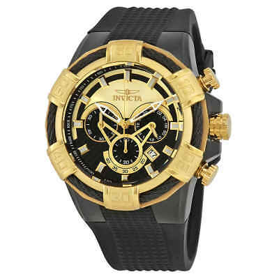Invicta Bolt Chronograph Black and Gold Dial Men's Watch 24699