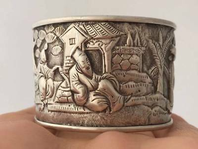 Antique Chinese Export Solid Silver Napkin Ring  (R3006A)