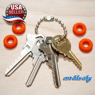 8 Original Offset, Residential, Commercial, Mail, Padlock Key Set w/ Bump Rings