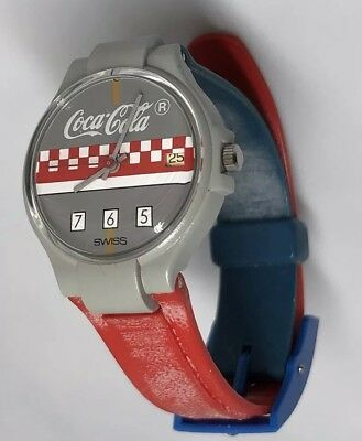 COCA COLA COKE WATCH SWISS MOVEMENT Non-Working Faded Day And Time 765