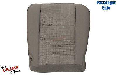 2008-2010 Ford F250 F350 450 XLT FX4-Passenger Side Bottom Cloth Seat Cover Gray