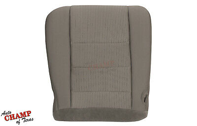 2008-2010 Ford F350 XLT FX4-Driver Side Bottom Replacement Cloth Seat Cover Gray