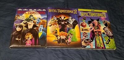 Hotel Transylvania 1,2,3 Trilogy DVD Bundle Disney Brand New + Free Shipping