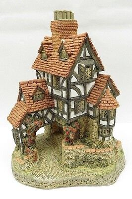 Signed David Winter 1985 Squires Hall Cottage Hand Made & Painted Great Britain