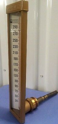 "Weksler Type 115 9"" Industrial 30 - 300F Thermometer NOS"