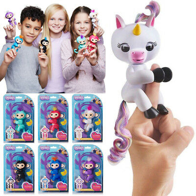 Unicorn Finger Baby lings Monkey Interactive Kids Toy Electronic Finger Pet 2019