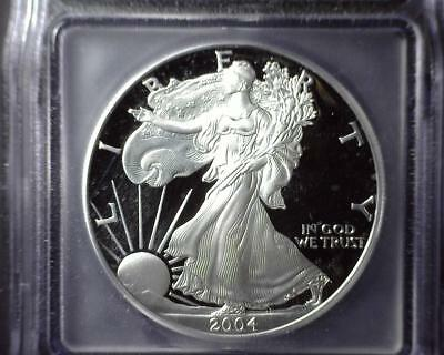 2004-W American Silver Eagle ICG PR 70 DCAM First Day of Issue #0136 of 1898