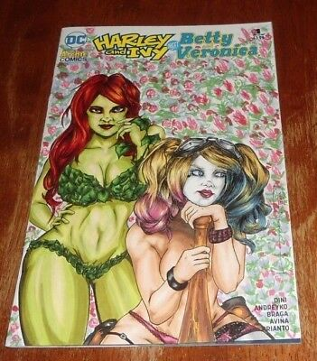 Harley And Ivy Meet Betty And Veronica #1 (2017.dc/archie Comics)Original Sketch