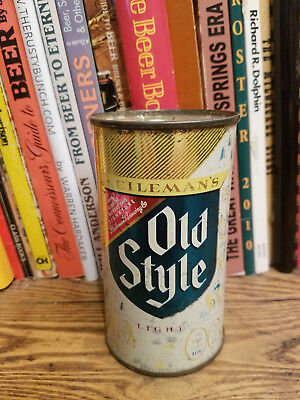 Old Style Light 12oz Flat Top Beer Can   Higher Grade - Green shield