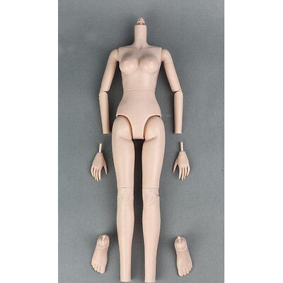 Movable 1/4 BJD Large Chest Female Nude Body Doll Modern Girl Figures DIY