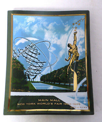 Vintage Houze Art New York World's Fair 1964 1965 Souvenir Glass Dish Tray