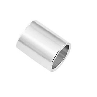 Pack of 50 Sterling Silver Crimp Beads 2 x 3 MM Hole 1.40 MM