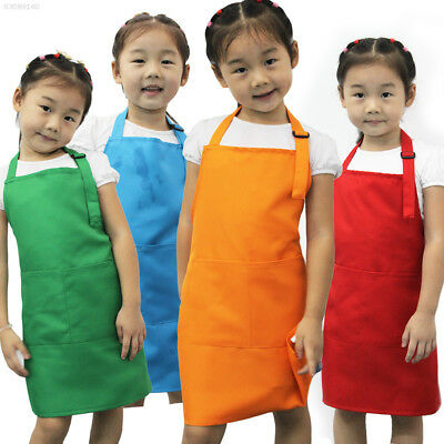 FF21 Cute Children Kids Plain Apron Kitchen Baking Painting Cooking Craft Art Bi