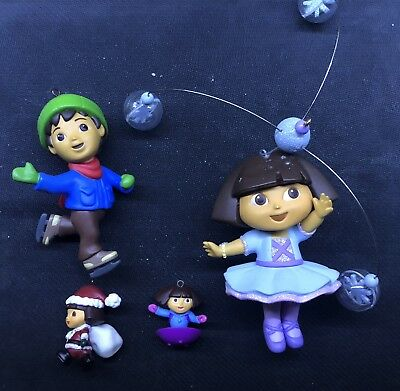 Dora The Explorer Christmas Ornament Lot 2