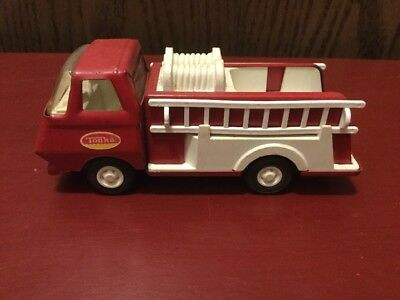 "Tonka Mini Fire Engine Pumper Truck With Ladders Vintage 1960s 6"" Long"
