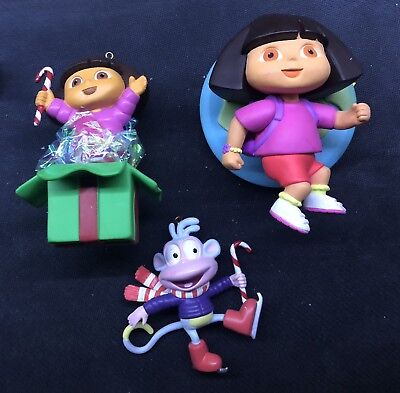 Dora The Explorer Christmas Ornament Lot 3