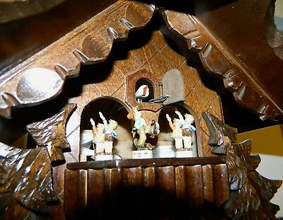 ***Musical Swiss Chalet Black Forest Germany Cuckoo Clock***