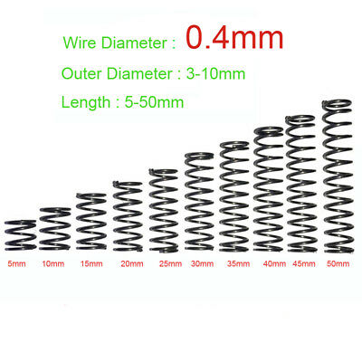 0.4mm Wire Dia. Pressure Compressed Springs Small OD(3 - 10mm)x Length(5 - 10mm)