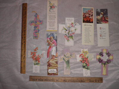 Collection 10 Vintage Christian Bookmarks