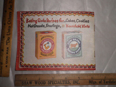 """Antique 1957 Arm & Hammer/Cow Brand Baking Soda """"Good Things To Eat"""" Booklet"""