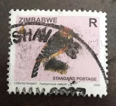 Zimbabwe Stamp Crested Barbet - P😫😫r Quality