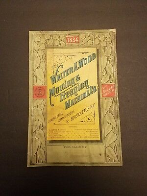 1884 Walter A Wood Harvesting Machine Catalog Hoosick Falls NY Farming Catalog