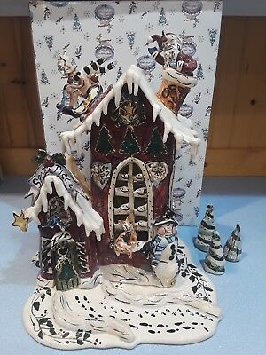 "Blue Sky ""Santa's Cottage"" Christmas Collection #CL20025 Rare BLUESKY CLAYWORKS"