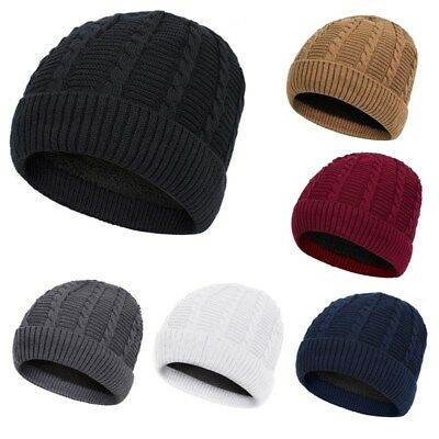 5806ce4877cba1 Women Girls Winter Warm Hat Knitted Thick Beanie Fleece Cap Ski Snowboard  Hats