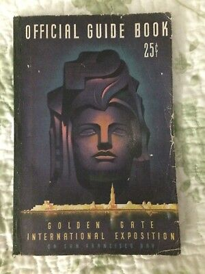 1939 Golden Gate International Exposition Official Guide Book with Map insert