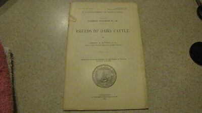 Old COW & BULL Book 1915 BREEDS Of DAIRY CATTLE US Dept of Agriculture- pictures