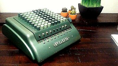"Vtg Bell Punch Company Ltd ""PLUS"" Adding Machine Model No 909 Great Britain"